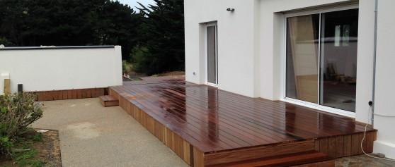 Réalisation d'une terrasse en bois